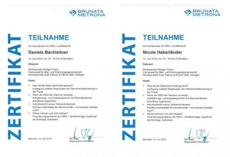 Teilnahme am Fachseminar für WEG- und Mietrecht