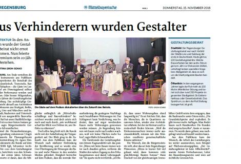 """Zeitungsartikel der MZ: """"Aus Verhinderern wurden Gestalter"""""""