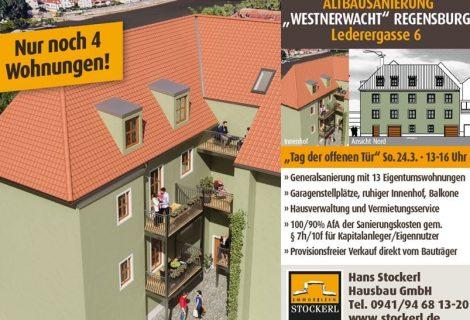 Lederergasse 6 – Tag der offenen Tür am 24.03.2019!! –  Nur noch 4 Wohnungen!!